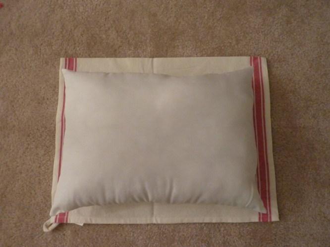 dish towel throw pillow