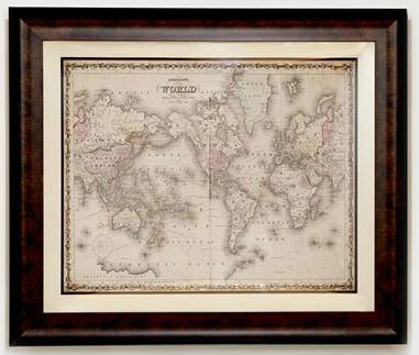 map decor,  vintage decor