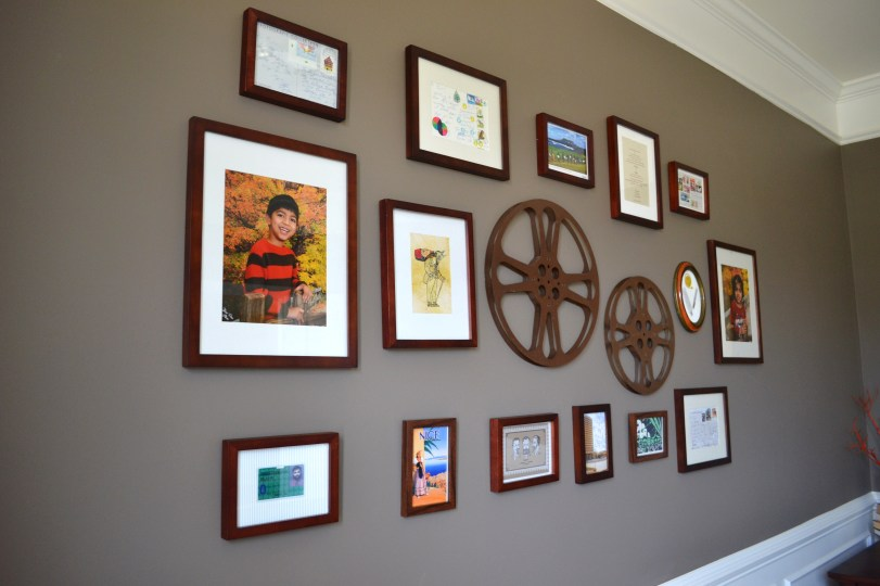 post card gallery, diy wall decor, Gallery Wall Tutorial
