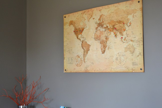 DIY map cork board, Cork board map tutorial