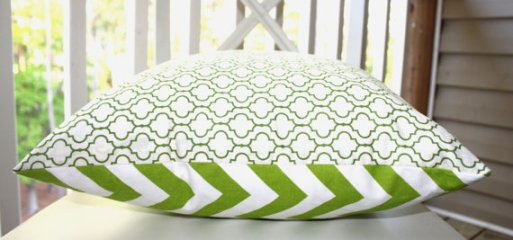 Chevron Moroccan Trellis pillow