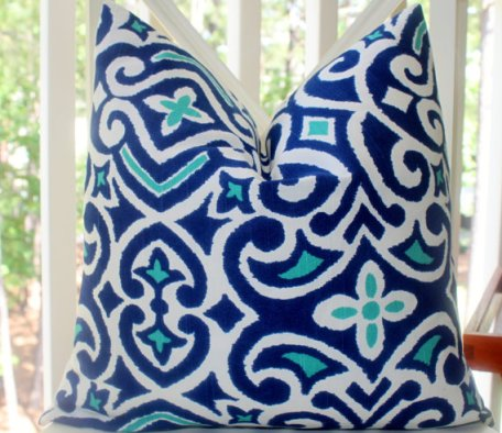 Ikat Geometric pillow Cover