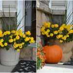 Whats Ur Home Story: Simple fall decor, how to make a burlap wrapped planter