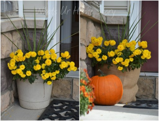 Simple fall decor, how to make a burlap wrapped planter