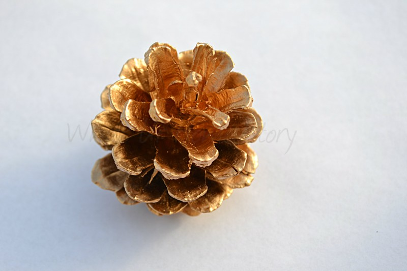 Whats Ur Home Story: Gilded Pine Cone Ornament, West elm pine cone ornament