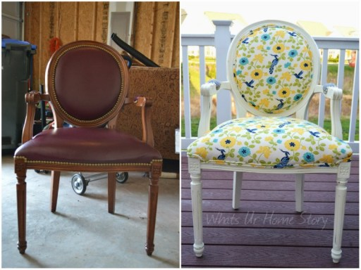 Whats Ur Home Story: Thrift store chair makeover