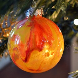 Whats Ur Home Story: Painted Clear Glass Ornament