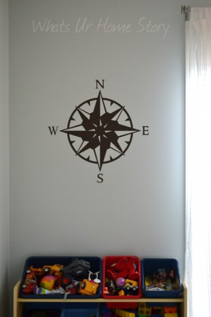 Whats Ur Home Story: Decorating with wall decals, Compass wall decal, CurlyQ wall sticker