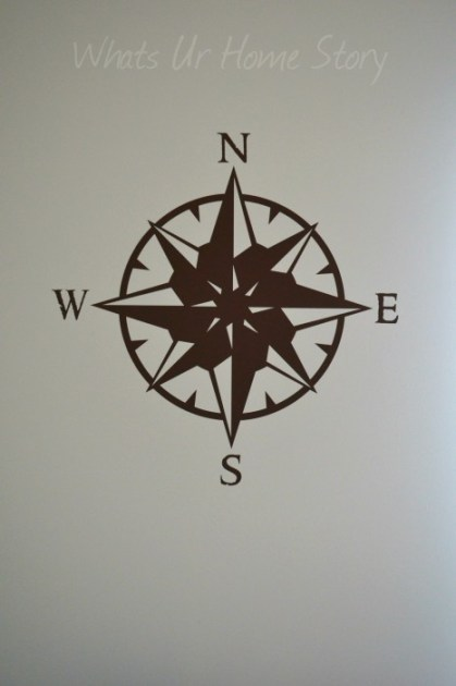 Whats Ur Home Story: Compass wall decal, CurlyQ Wall Decal