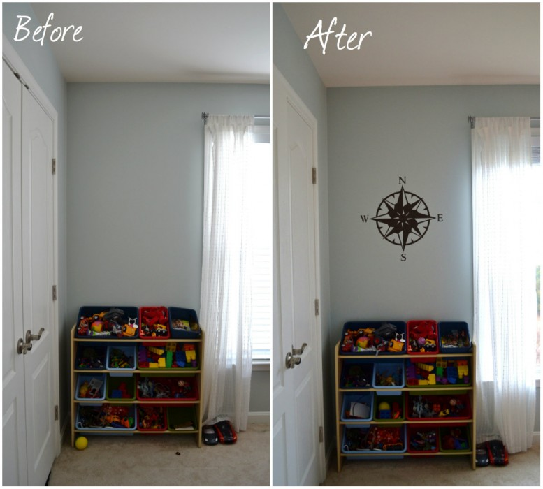 Whats Ur Home Story: Wall decals for boys room, compass wall decal