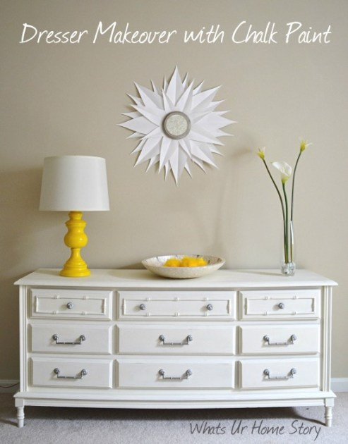 Whats Ur Home Story: Dresser Makeover with Annie Sloan Chalk paint,Chalk Paint Dresser