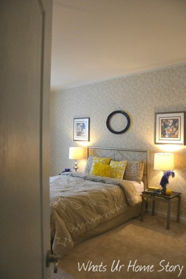 Whats Ur Home Story: Yellow and beige bedroom, neutral bedroom, transitional bedroom