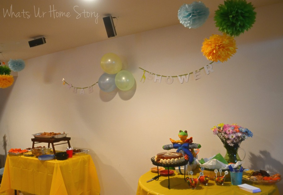 Whats Ur Home Story: Easy baby shower decor
