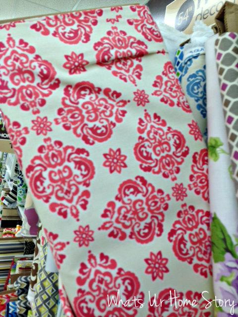 Whats Ur Home Story: fuchsia print fabric