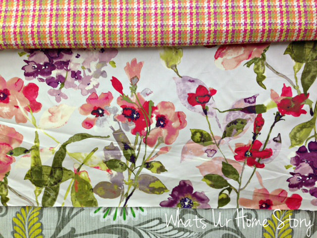 Whats Ur Home Story: Modern floral fabric