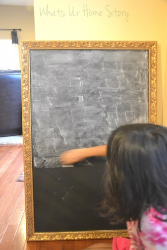 Whats Ur Home Story: DIY chalkboard tutorial, chalkboard from mirror, prepping the chalkboard before first use