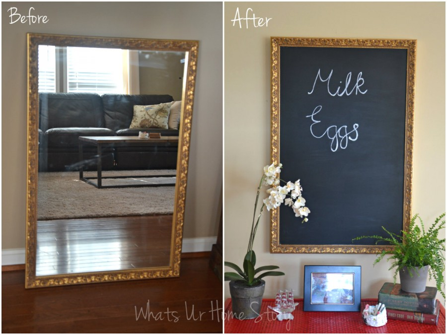 Whats Ur Home Story: How to turn a mirror into a chalkboard
