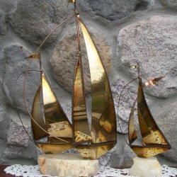 brass sailboat sculpture