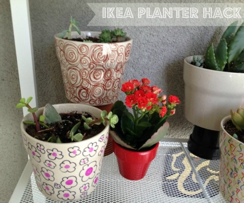 Whats Ur Home Story: IKEA planter hack, sharpie planters
