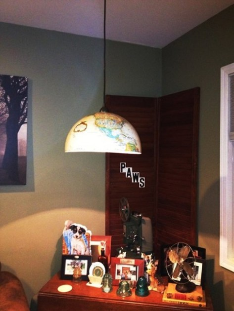 Globe Pendant Light, vintage globe light fixture