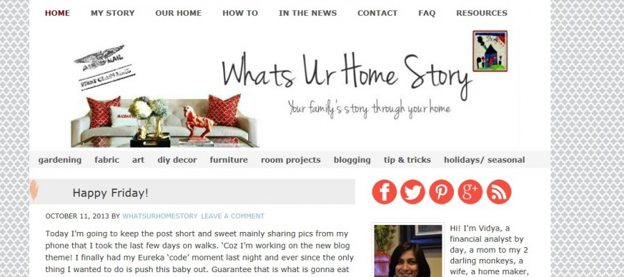 Whats Ur Home Story, blog facelift