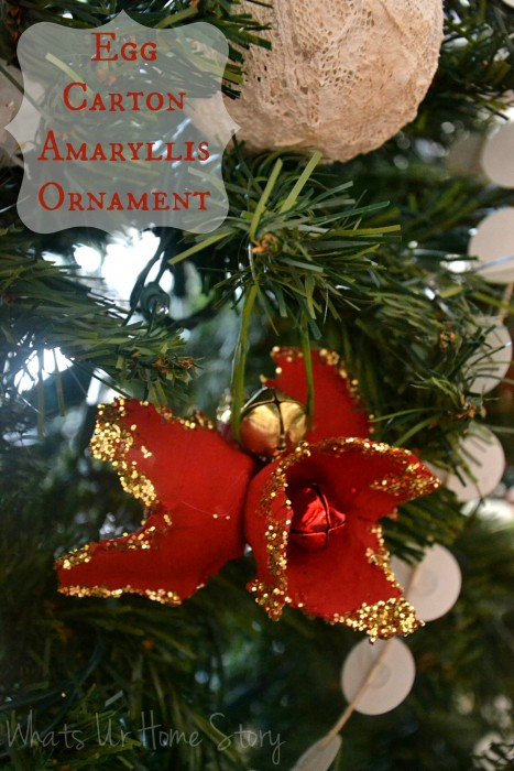 Egg carton holiday amaryllis ornament whats ur home story for Amaryllis christmas decoration