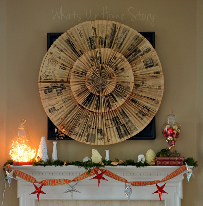 Whats Ur Home Story: Rustic Christmas Mantel, white Christmas mantel, Simple Christmas Mantel