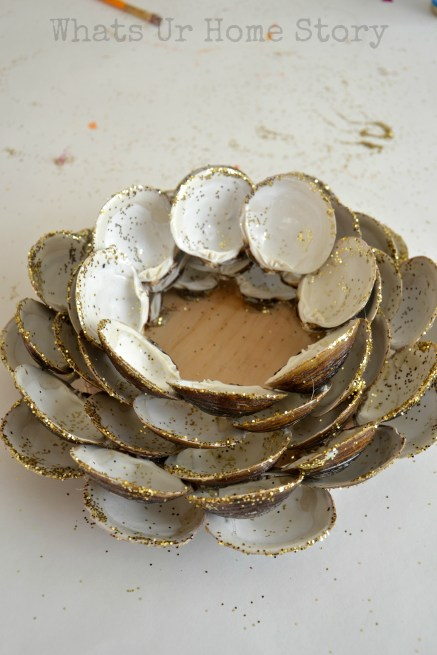 Seashell Candle Holder, Clam shell candle holder, how to make a seashell candle holder, seashell candle holder tutorial