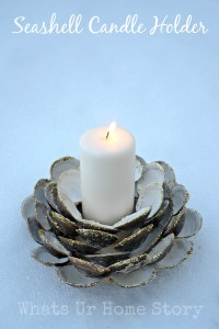 Seashell Candle Holder, Clam shell candle holder, diy candle holder, seashell crafts, beach decor