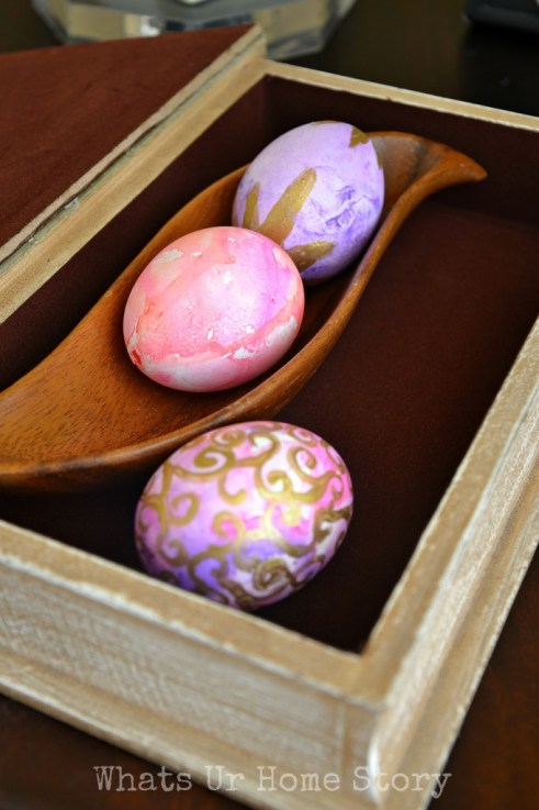 watercolor eggs, spring home tour