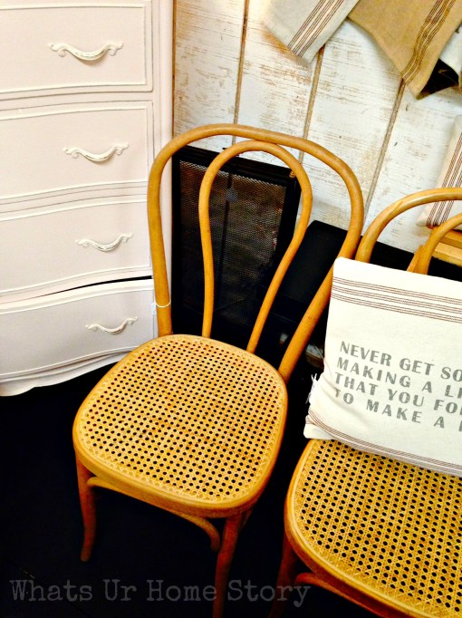 cafe chairs, bamboo cafe chairs, on a whim boutique, Vintage Hip Decor