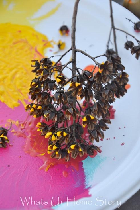 dip painted flowers