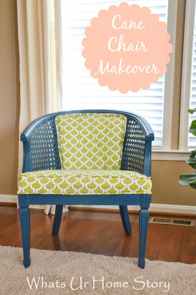 cane back  chair makeover 2