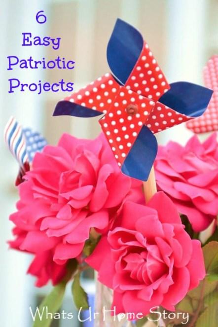 patriotic decor, Simple & Easy Patriotic Decor, July 4th centerpiece