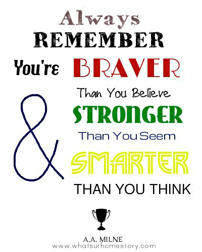 a a milne quote