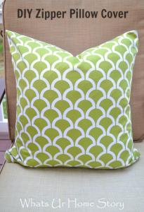 zipper pillow cover