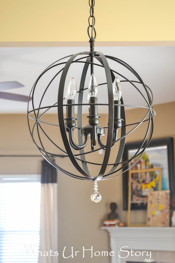 Make this DIY Orb chandelier tutorial for $40