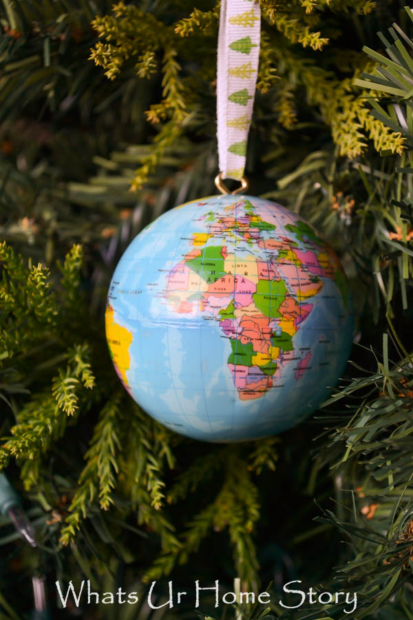 Globe Christmas Ornament Tutorail