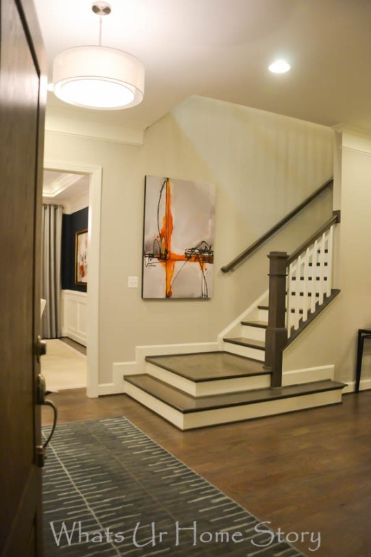 Miller and smith model home Transitional foyer