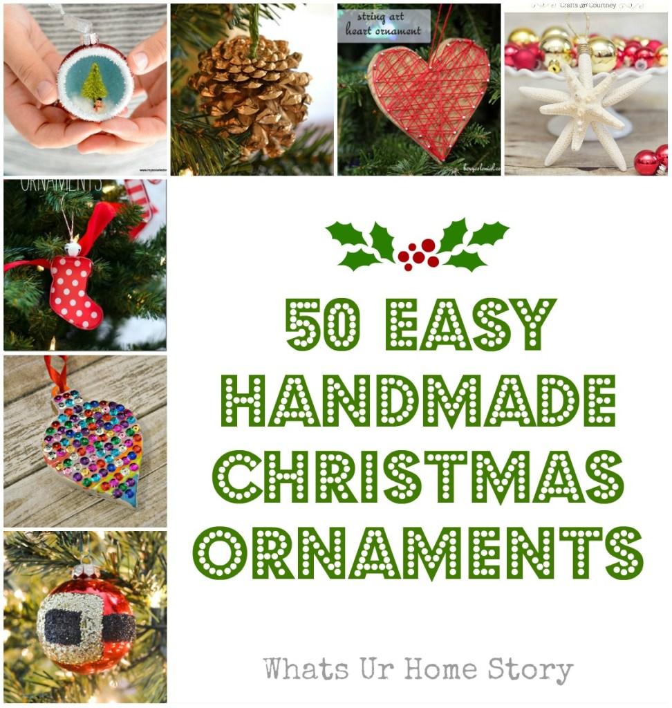 50 easy handmade christmas ornaments