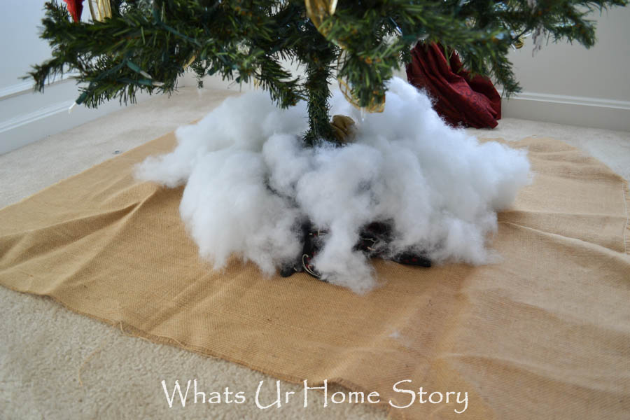 DIY faux root ball tree skirt