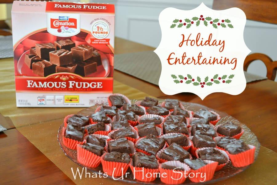 Nestle Carnation Fudge Kit, holiday recipes, entertaining, easy recipes