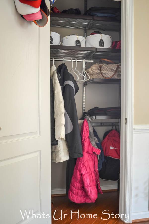 Organize your coat closet with Elfa