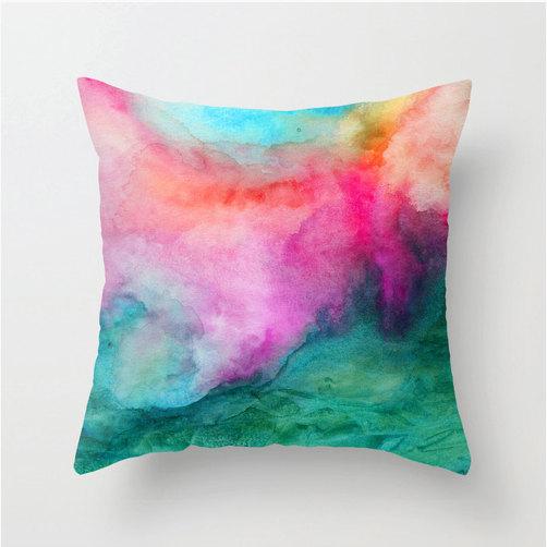 watercolor home decor - watercolor pillow
