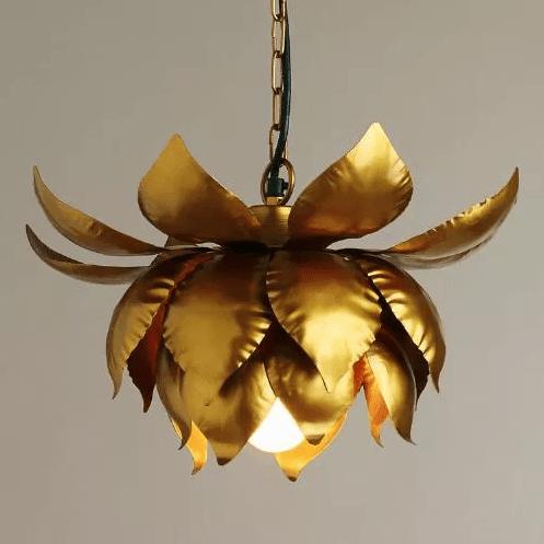 gold lotus pendant