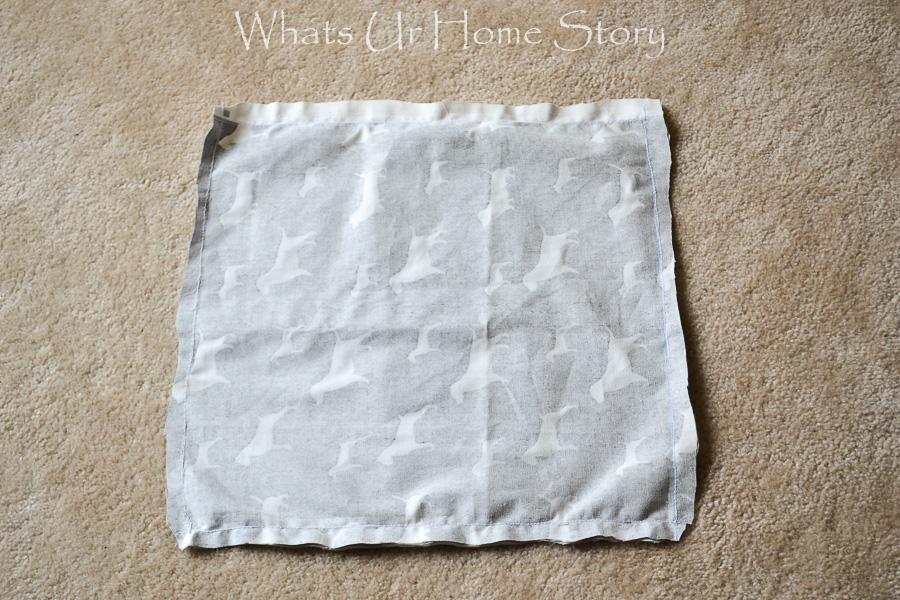 envelope pillow cover tutorial