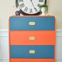 Give old laminate furniture a new look with paint -Campaign Dresser Makeover