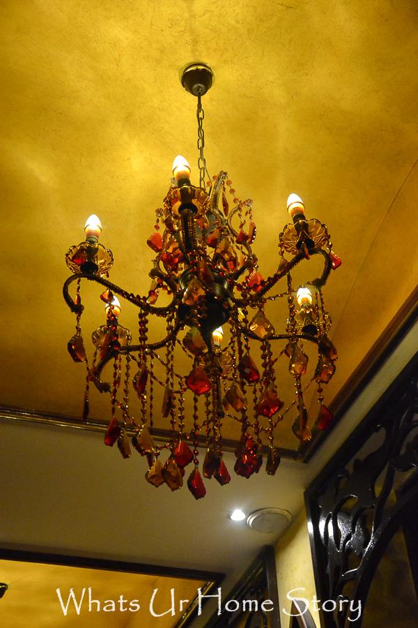 burgundy crystal chandelier