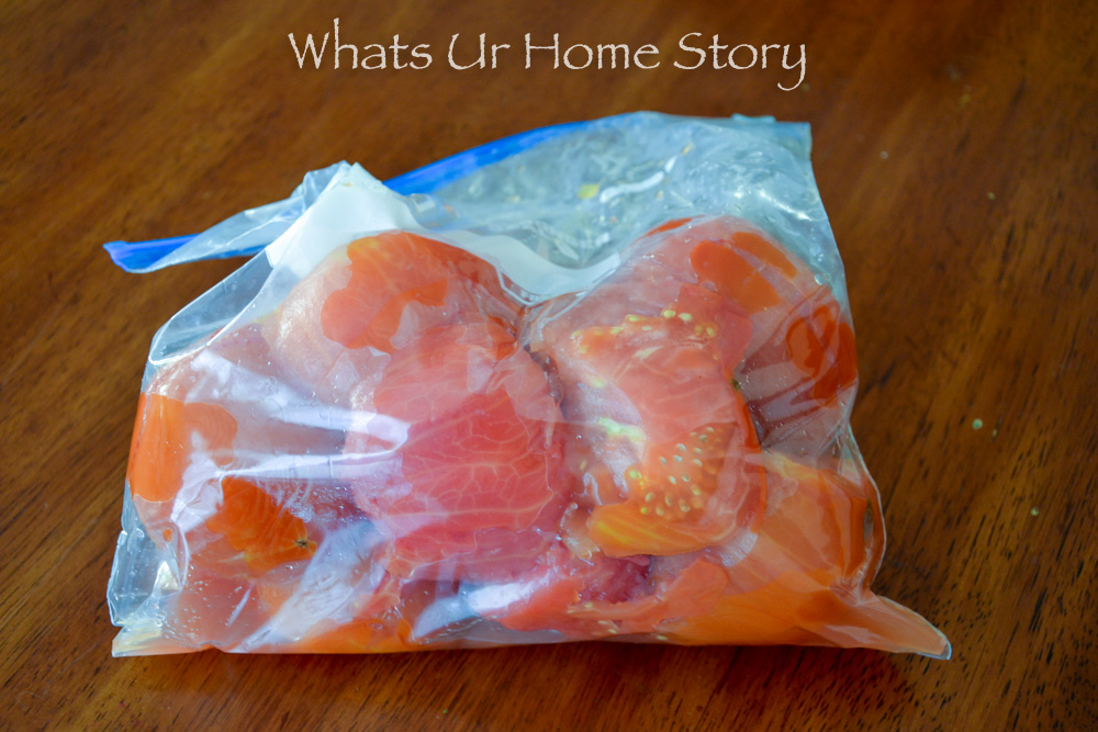 Easiest way to freeze tomatoes
