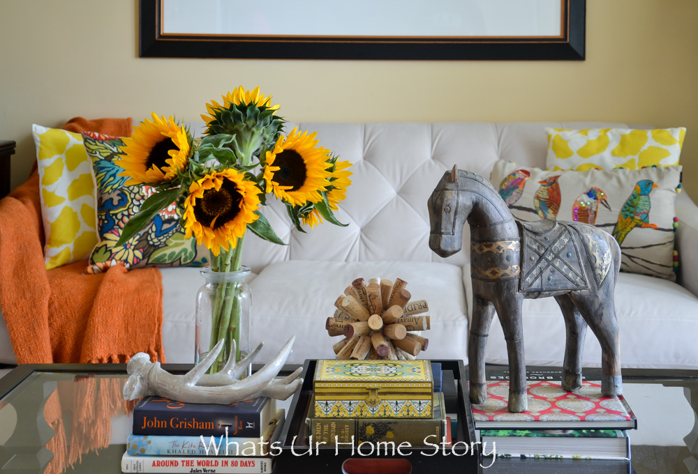 Fall home tour decorating with a rust colors